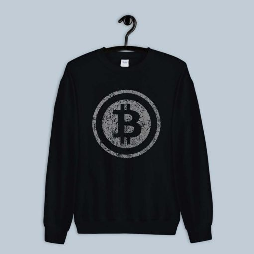 Vintage Bitcoin Shirt For Crypto Currency Traders Sweatshirt