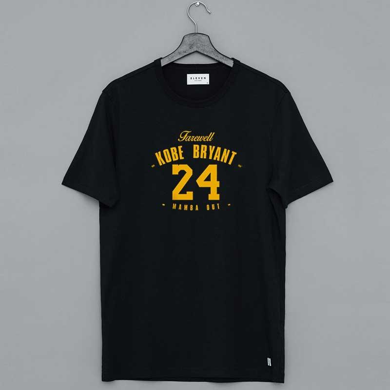 Kobe Bryant Farewell Mamba Out 24 Shirt