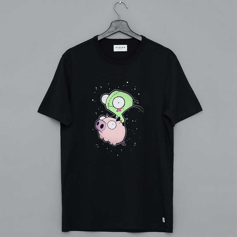 Invader Zim Gir Riding Pig T-Shirt