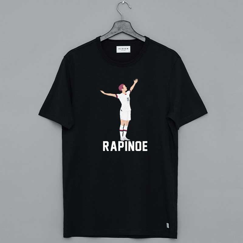 Megan Rapinoe The Victory Pose White Stencil Shirt