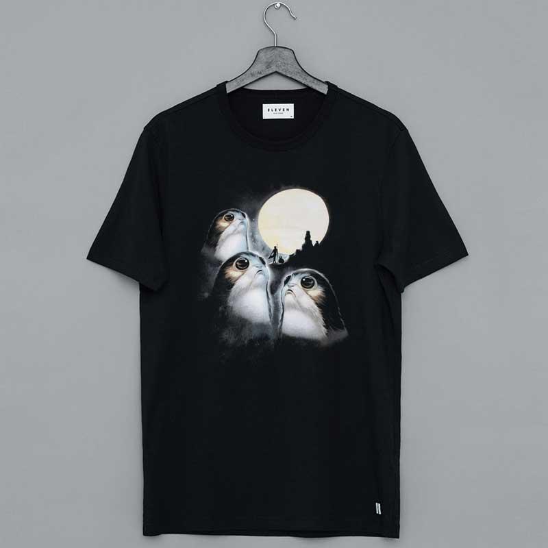 Star Wars The Last Jedi Three Porg Moon T-Shirt