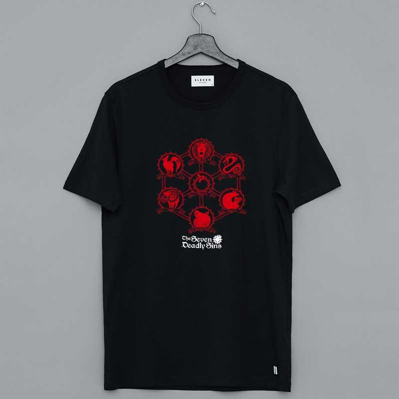 The Seven Deadly Sins Icons Merch T-Shirt